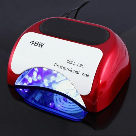 Гибридная CCFL+LED лампа 48w Professional Nail Красная