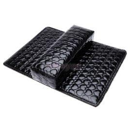 Подушка+подложка для рук (маникюрная) черная