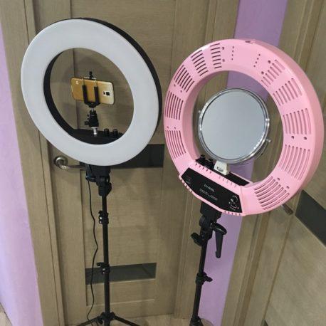 Лампа кольцевая Bi-COLOR CY-R50L 18 50W с сумкой и штативом - Salontool.ru