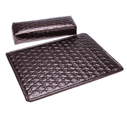 Подушка+подложка для рук (маникюрная) коричневая