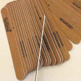 Набор пилок SunShine для натуральных ногтей 175*20*1,2 мм, 80/100, 5 шт, на деревянной основе