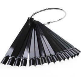 Типсы черные веер на кольце 50шт