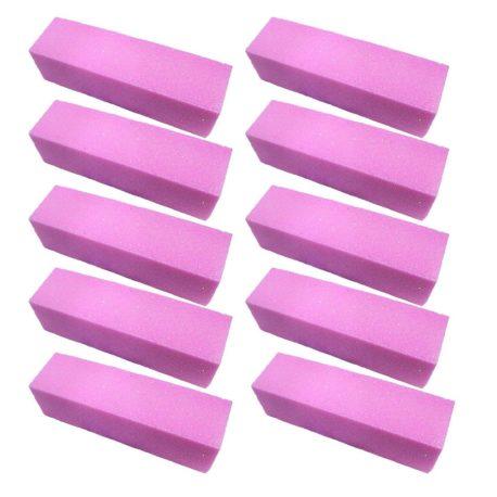 Бафы для маникюра шлифовальные розовые, 10шт
