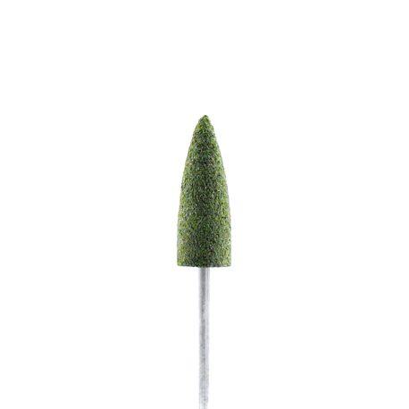 Фреза-полировщик Силикон-карбидный, средний, зеленый, конус заостренный 4мм