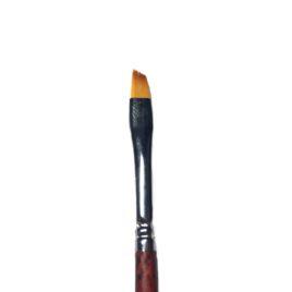 Кисть для дизайна EzFlow №4 скошеная, норка, деревянная ручка, 1 шт