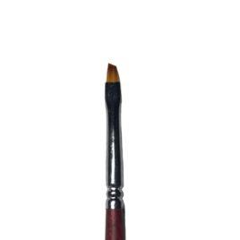 кисть для дизайна EzFlow №2 скошеная, норка, деревянная ручка, 1 шт