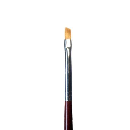Кисть для дизайна Nail Art №2 скошенная, норка, деревянная ручка (1шт)