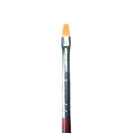 Кисть для дизайна Nail Art №1 скошенная, норка, деревянная ручка (1шт)