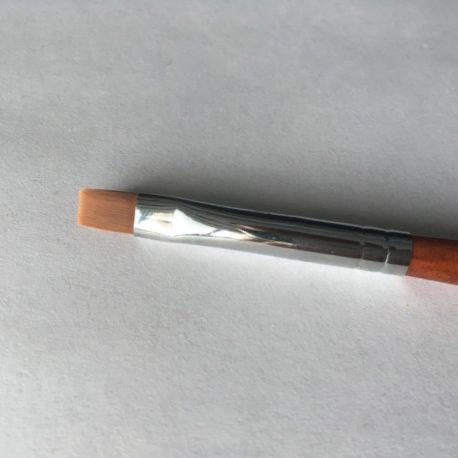 Кисть Kolinsky №8 для гелевого моделирования и дизайна ногтей, деревянная ручка (1шт)