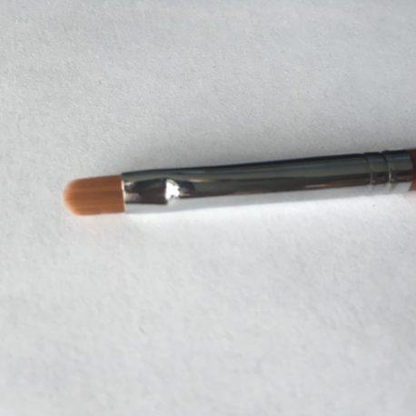 Кисть Kolinsky №6 для гелевого моделирования и дизайна ногтей, деревянная ручка (1шт)