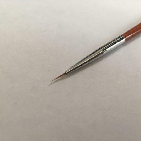 Кисть волосок Nail Art №00, деревянная ручка (1шт)