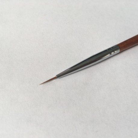 Кисть волосок Nail Art №0, деревянная ручка (1шт)