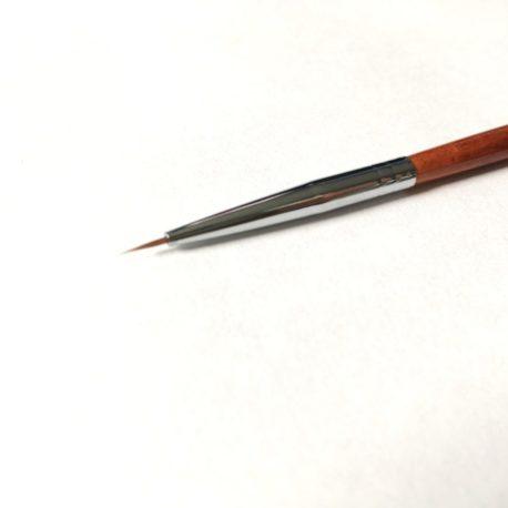 Кисть волосок Nail Art №000, деревянная ручка (1шт)