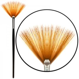 Кисть Nail Art веерная для градиента, деревянная ручка (1шт)