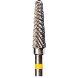 Фреза твердосплавная 202402 для прямого наконечника с супермелкой крестообразной нарезкой (желтая полоса)