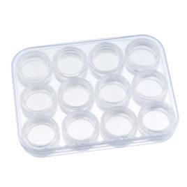 Контейнер пластиковый с 12 баночками 12*9*1,7см