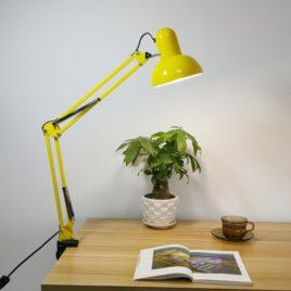 Лампа-на-струбцине-Salontool-ru-желтая-круглый-плафон