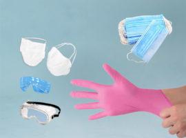 перчатки маски очки тапочки для маникюра