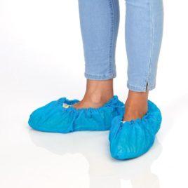 """Бахилы """"Экстра"""" синие, 15х40 см, 50шт"""