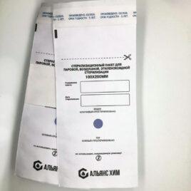 Крафт-пакеты для стерилизации с индикатором белые 100х200мм, 100шт на Salontool.ru