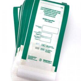 Крафт-пакеты для стерилизации с индикатором, комбинированные, МедТест 75х150мм, 100шт на Salontool.ru