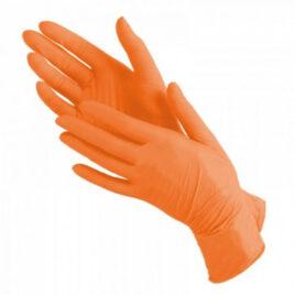 Перчатки нитриловые, оранжевые, S, 100шт на Salontool.ru