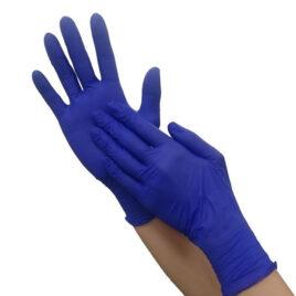 Перчатки нитриловые, фиолетовые L, 100шт на Salontool.ru